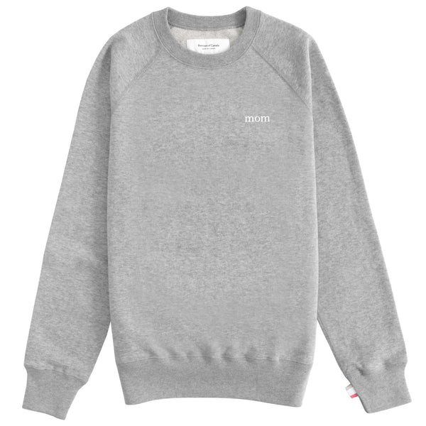 Mom French Terry Crewneck Heather Grey
