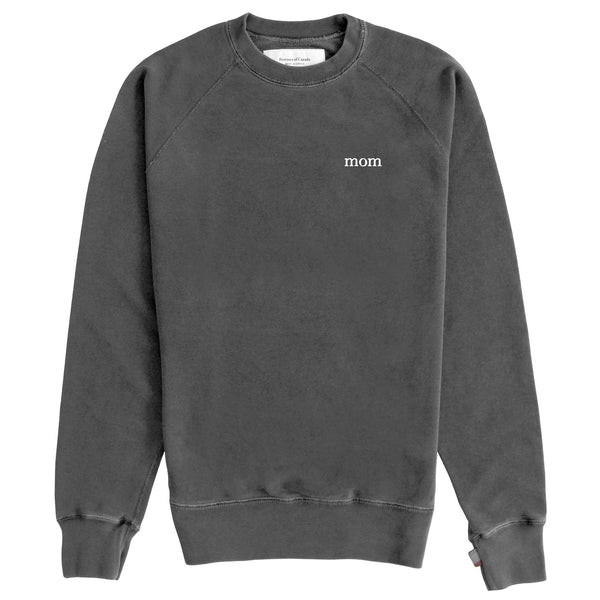 Mom French Terry Crewneck Sweater Washed Black
