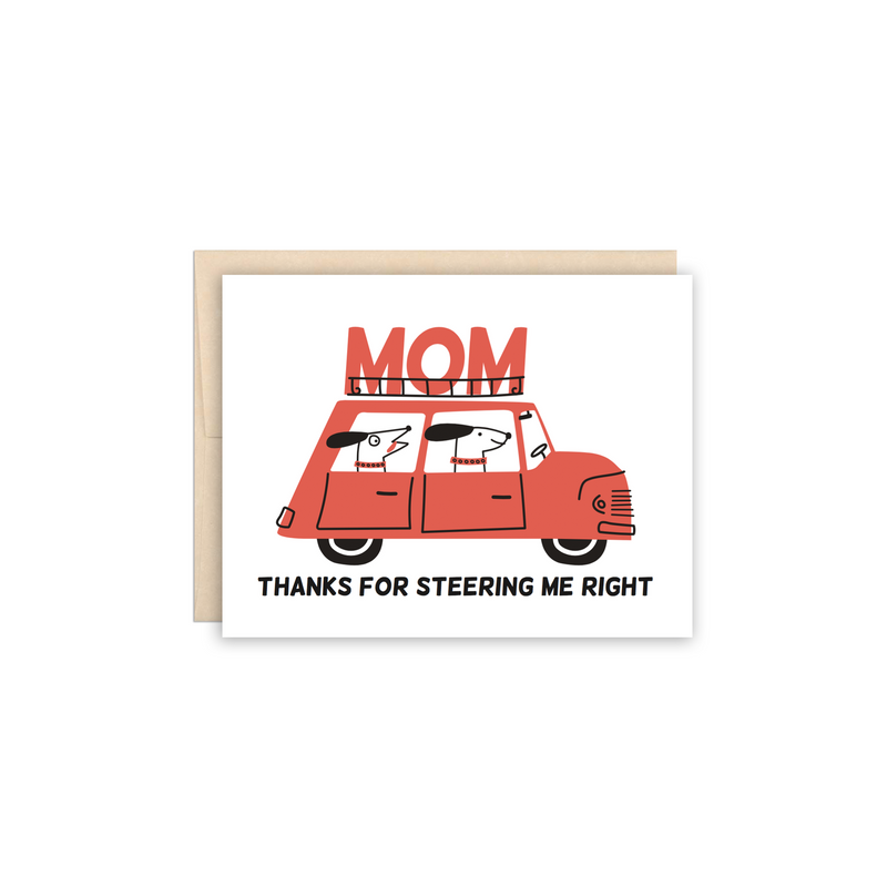 Dog Driver Mother's Day Greeting Card - Made in Canada - Province of Canada