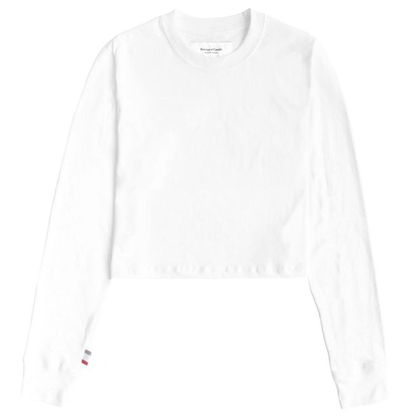 Monday Long Sleeve Crop Top White