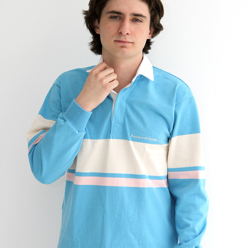Bailey Turquoise Blue Rugby Shirt - Unisex - Made in Canada - Province of Canada