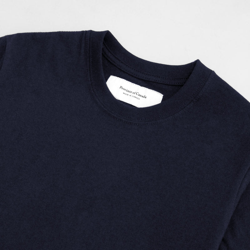 Monday Crop Top Tee Navy - Made in Canada - Province of Canada