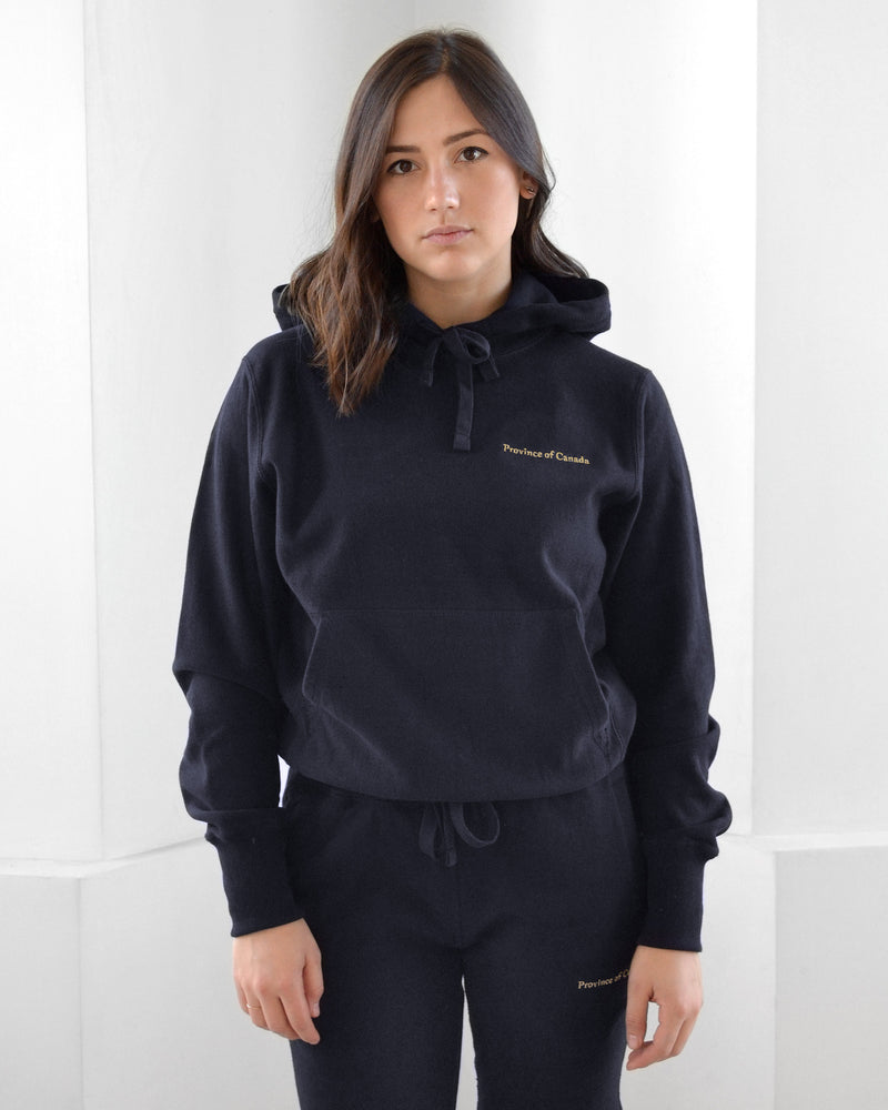 Made in Canada Cross Grain Hoodie Navy - Unisex - Province of Canada