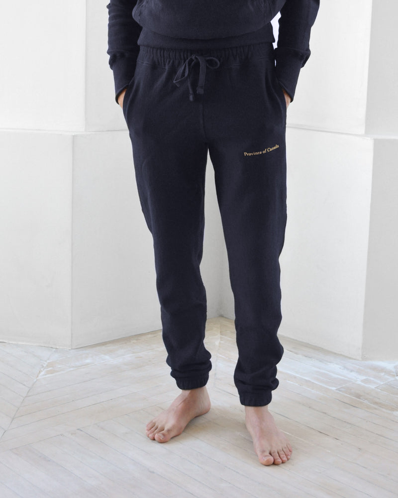 Made in Canada Cross Grain Sweatpants Navy - Unisex - Province of Canada