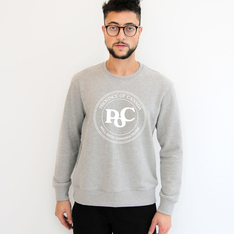 Emblem Crewneck Sweater Heather Grey - Unisex