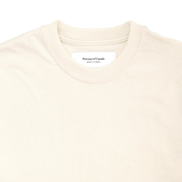 Monday Crop Top Tee Natural - Made in Canada - Province of Canada