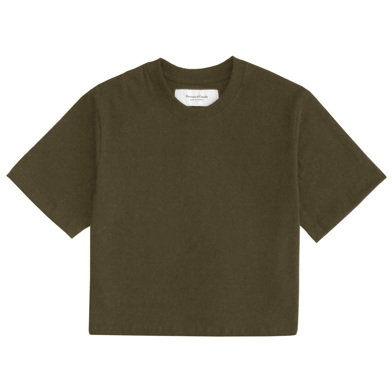 Made in Canada Monday Crop Top Olive - Province of Canada