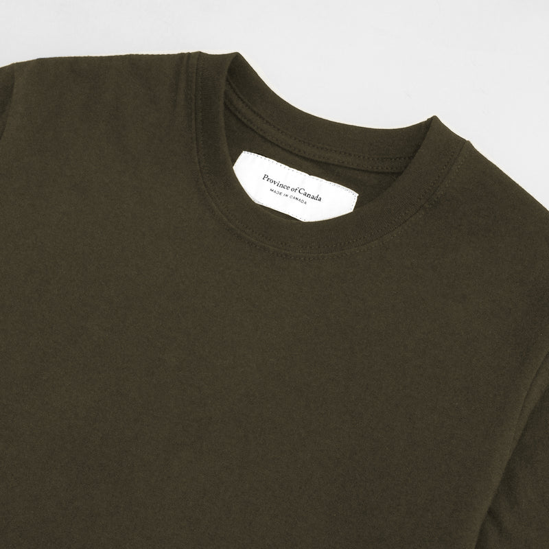 Province of Canada - Monday Tee Olive - Made in Canada