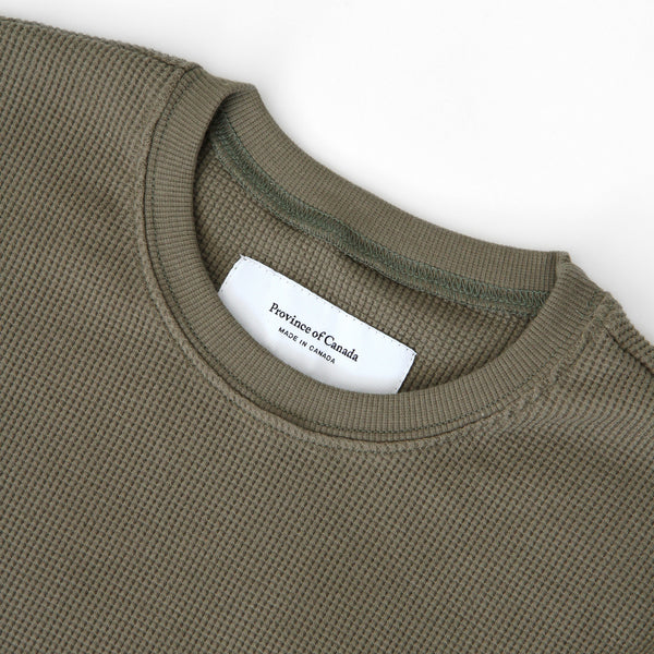 Made in Canada Waffle Long Sleeve Olive - Province of Canada