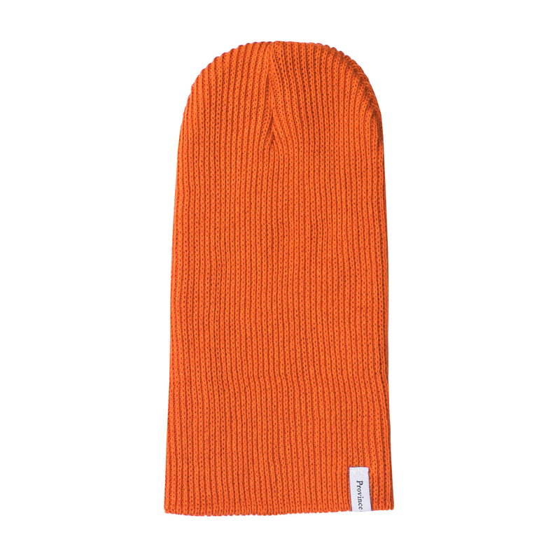 Ribbed Cotton Toque Hunter Orange - Made in Canada - Province of Canada