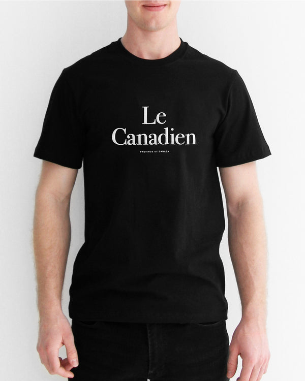 Le Canadien Black Tee - Mens