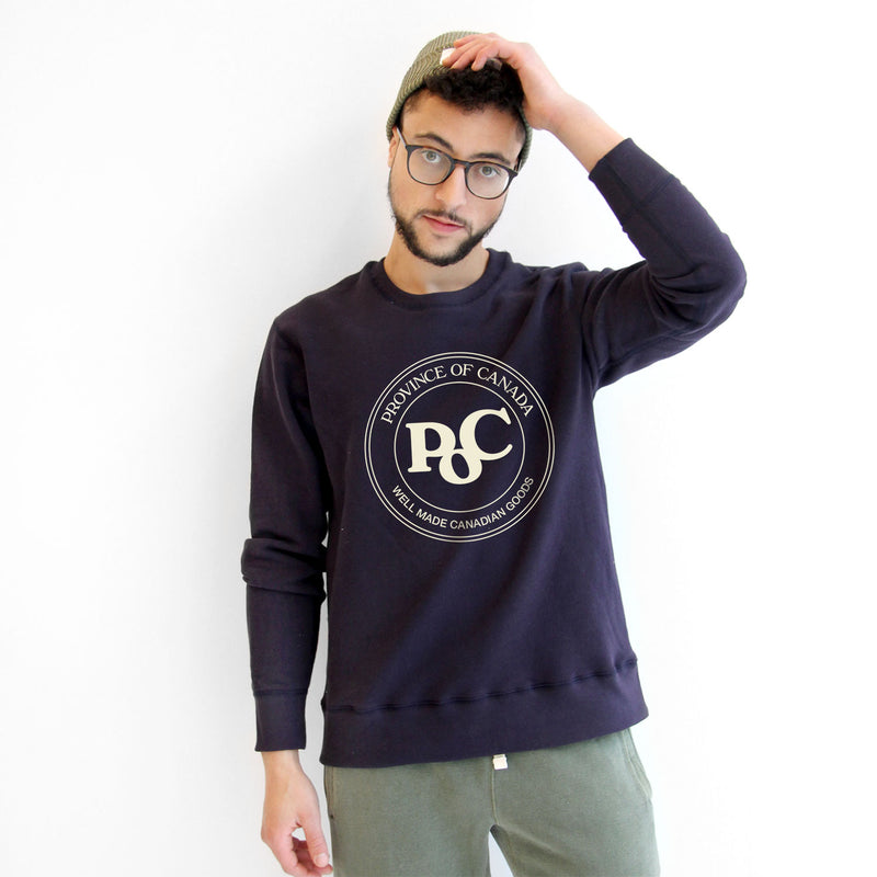 Emblem Crewneck Sweater Navy - Unisex