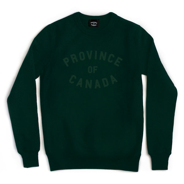 Province Crewneck Sweater Forest on Forest - Unisex