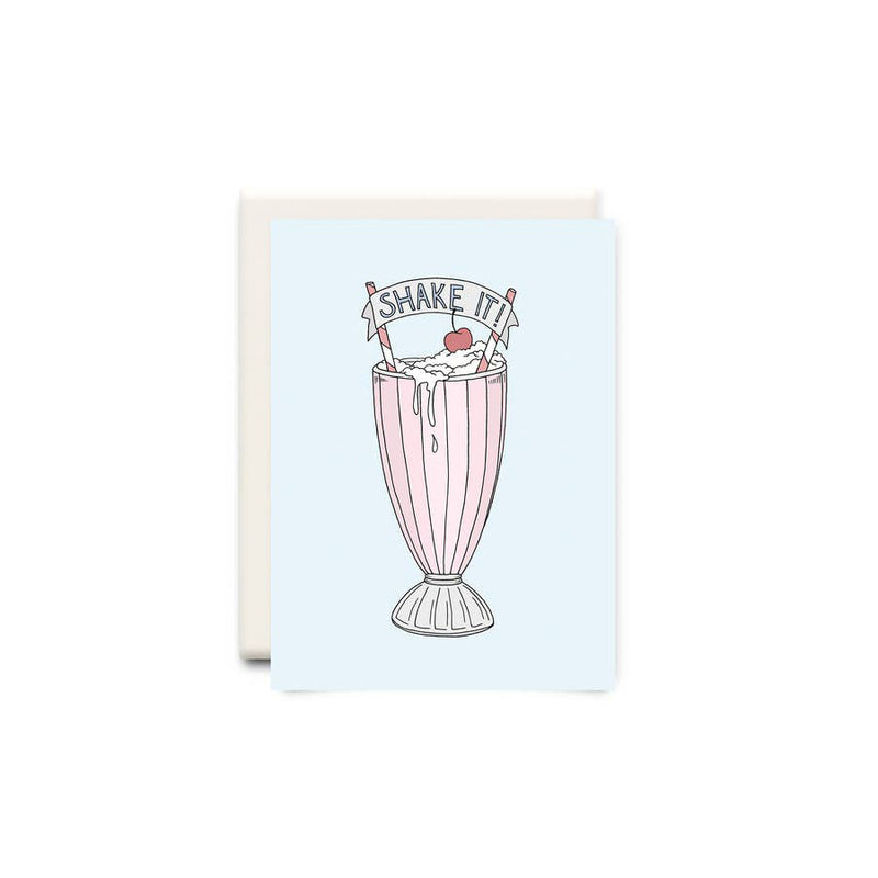 Milkshake Shake It Birthday Greeting Card - Made in Canada - Province of Canada