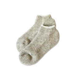 Slipper Socks Natural 100% Wool - Made in Canada - Province of Canada