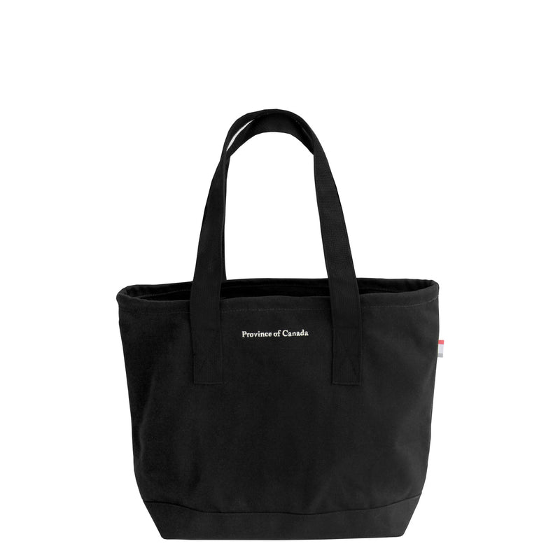 Province of Canada Small Tote Bag Black - Made in Canada