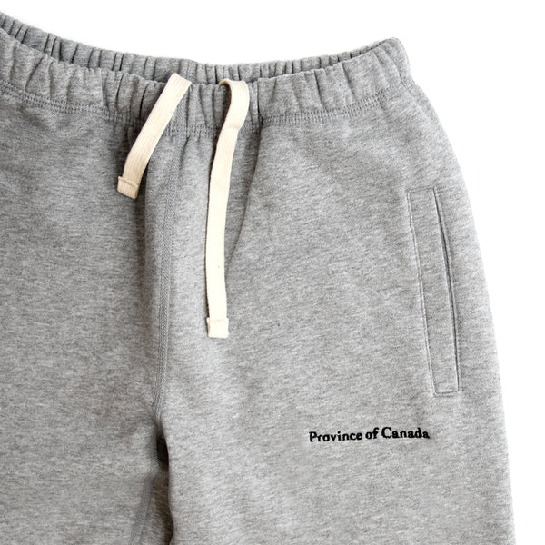 Province of Canada Heather Grey Lounge Sweatpants Made in Canada