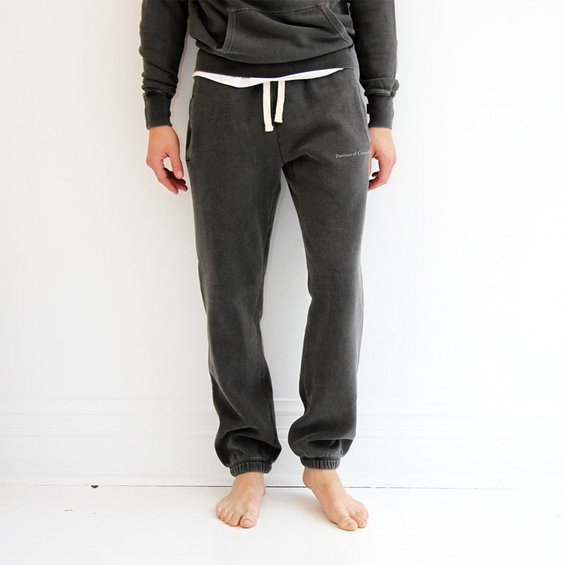 Lounge Sweatpant Washed Black - Made in Canada