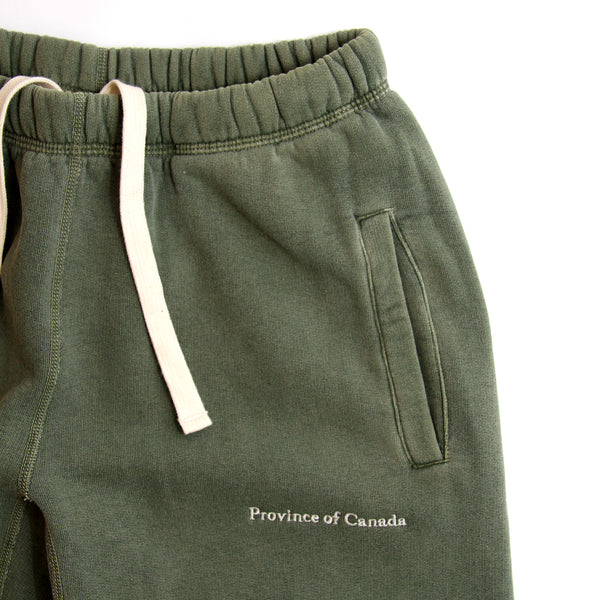 Lounge Sweatpant Washed Olive - Made in Canada