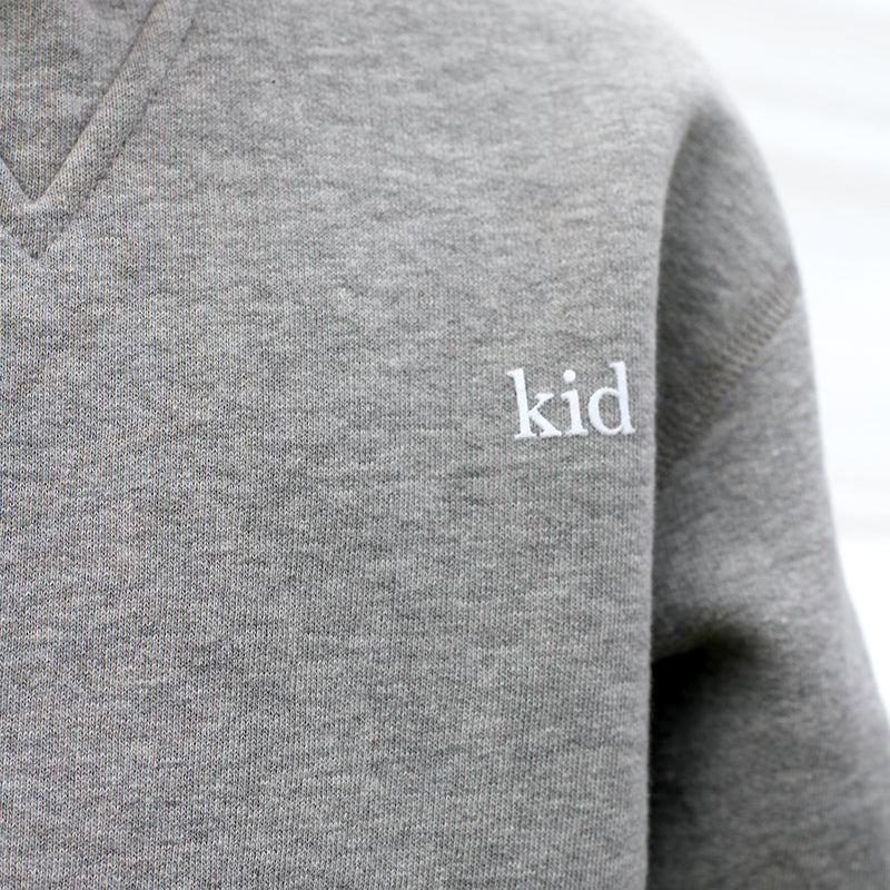 The Kid Crewneck Heather Grey/Black - Unisex - Province of Canada