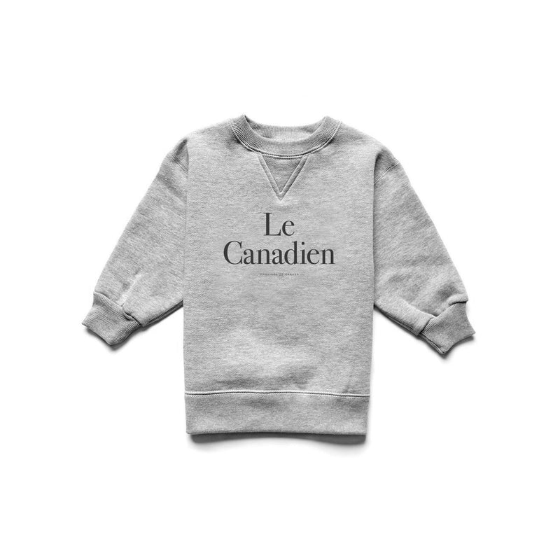 Le Canadien Kid Crewneck Heather Grey/Black