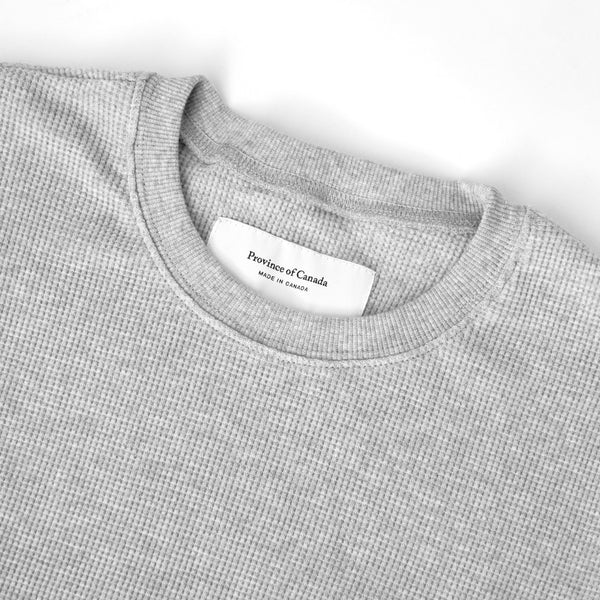 Made in Canada Waffle Long Sleeve Crop Top Heather Grey - Province of Canada