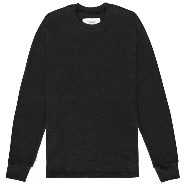 Made in Canada Waffle Long Sleeve Black - Province of Canada