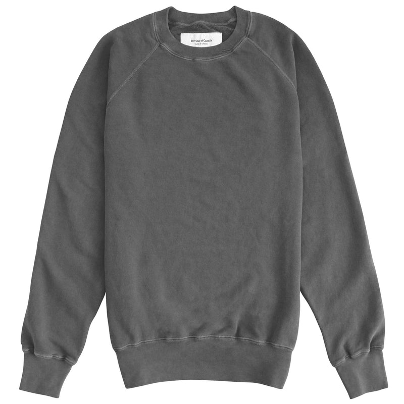 Weekend Sweatshirt Garment Dyed Washed Black - Unisex - Made in Canada - Province of Canada