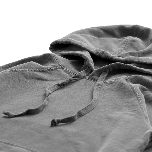 The Weekend Hoodie Washed Black - Garment Pigment Dyed - Province of Canada - Made in Canada