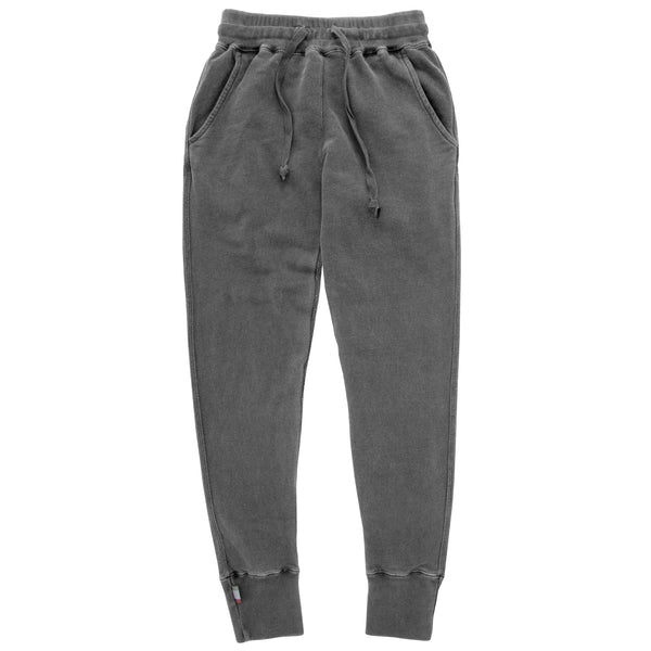 Weekend Sweatpants Garment Pigment Dyed Washed Black Unisex - Made in Canada - Province of Canada