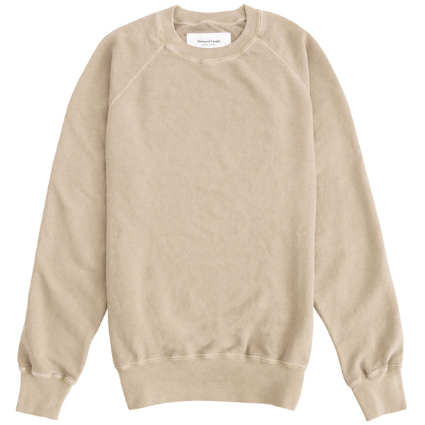 Weekend Washed Camel Sweatshirt - Made in Canada