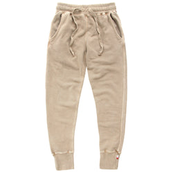 Weekend Sweatpants Garment Pigment Dyed Washed Camel Unisex - Made in Canada - Province of Canada