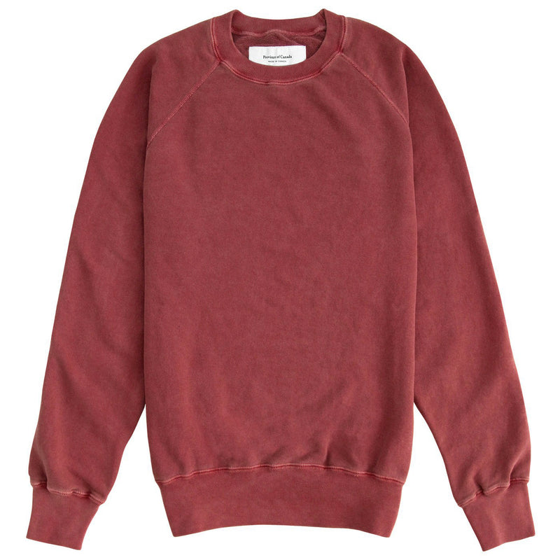 Made in Canada Weekend Sweatshirt Washed Cranberry - Unisex - Province of Canada