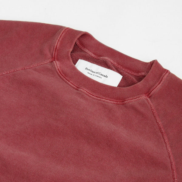 Weekend Sweatshirt Washed Cranberry - Unisex