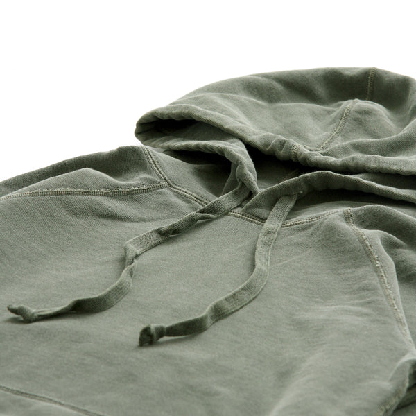Weekend Hoodie Washed Olive Unisex - Garment Pigment Dyed - Made in Canada - Province of Canada