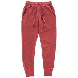 Weekend Skinny Sweatpants Washed Red - Unisex