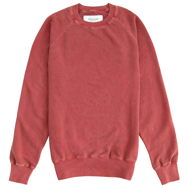 Weekend Sweatshirt Garment Dyed Washed Red - Unisex - Made in Canada - Province of Canada