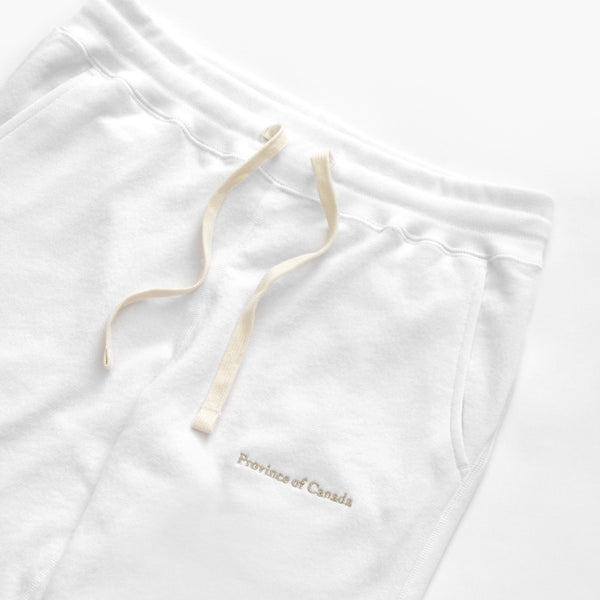 Made in Canada Skinny French Terry Sweatpant White - Unisex