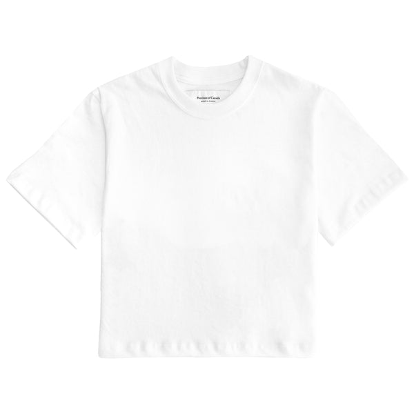 Monday Crop Top Tee White - Made in Canada - Province of Canada