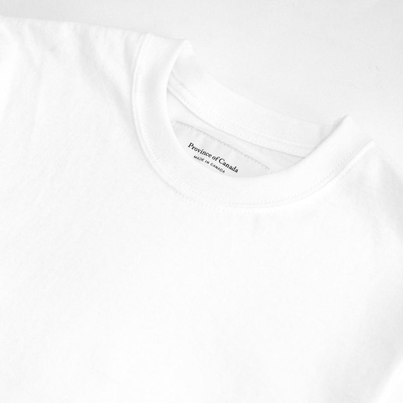 Monday Tee White - Unisex - Made in Canada - Province of Canada