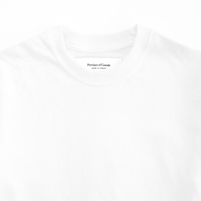 Monday Crop Top T-Shirt White - Made in Canada - Province of Canada