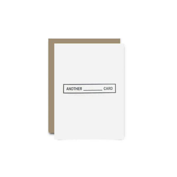 Another Blank Greeting Card