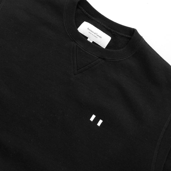 Province of Canada - Lounge Fleece Sweatshirt Black - Made in Canada