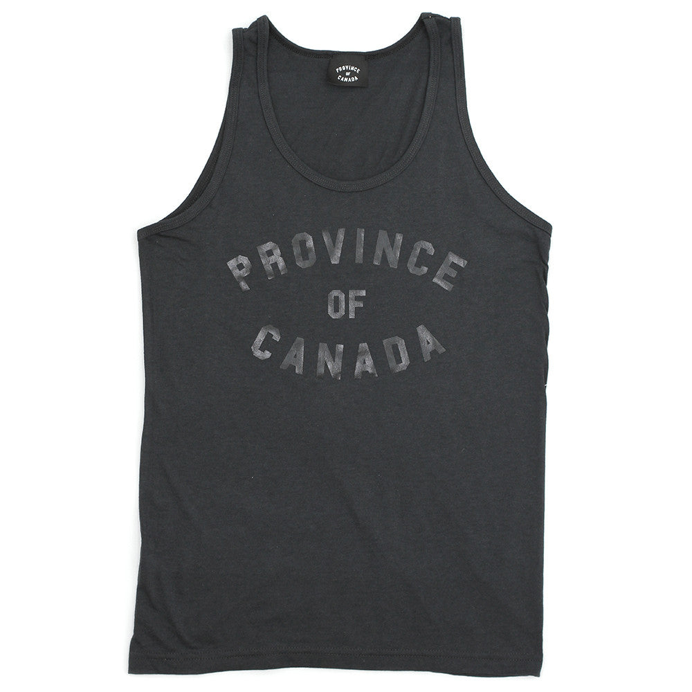 Province Tank Charcoal and Black - Unisex