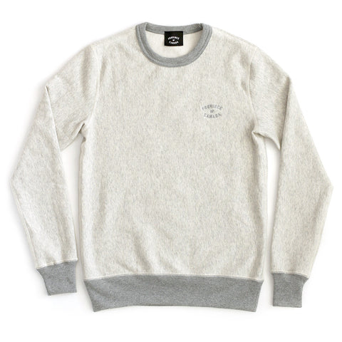 Province of Canada Embroidered Eggshell Crewneck Sweater Made in Canada