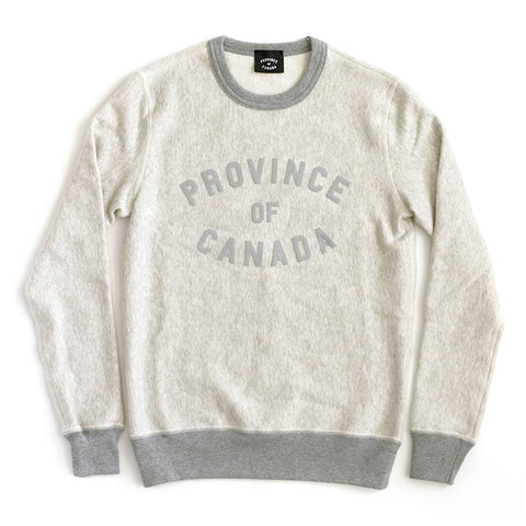 Province of Canada Eggshell Crewneck Sweater Made in Canada