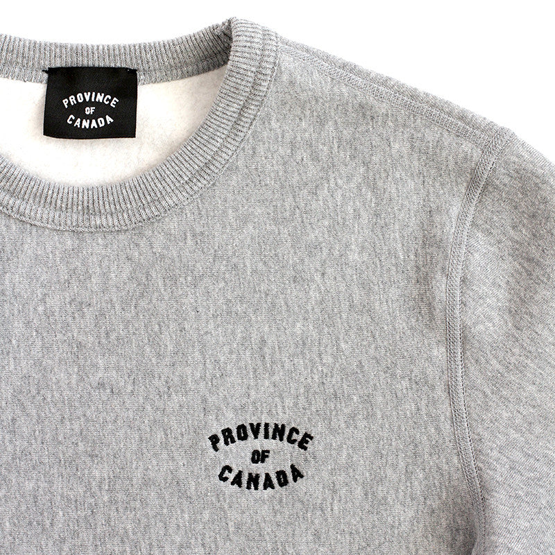 Province Embroidered Crewneck Sweater Heather Grey - Unisex