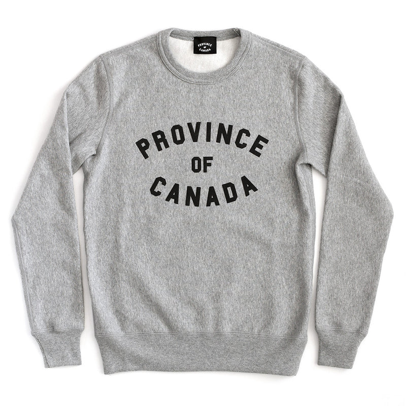 Province of Canada Heather Grey Crewneck Sweater Made in Canada