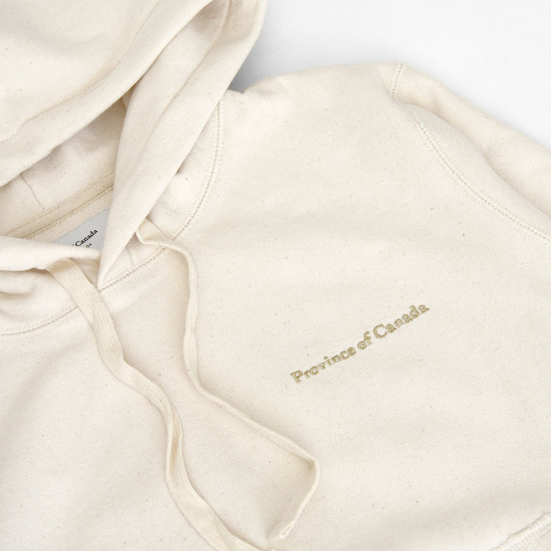 Province of Canada - Cross Grain Hoodie Natural - Made in Canada