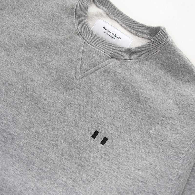 Province of Canada - Lounge Fleece Sweatshirt Heather Grey - Made in Canada